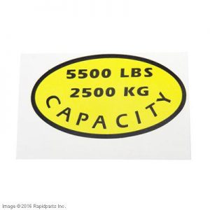 DECAL, CAPACITY A000028194