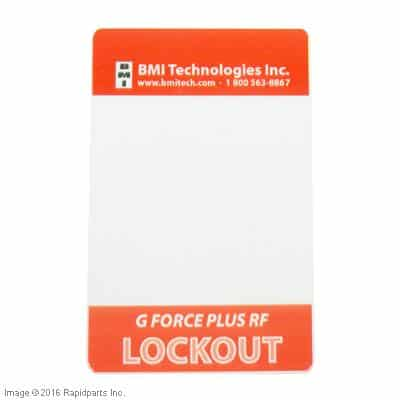 CARD,LOCKOUT A000021117