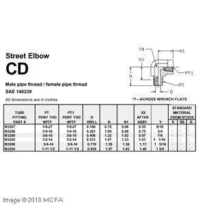 STREET ELBOW 90 9I3206